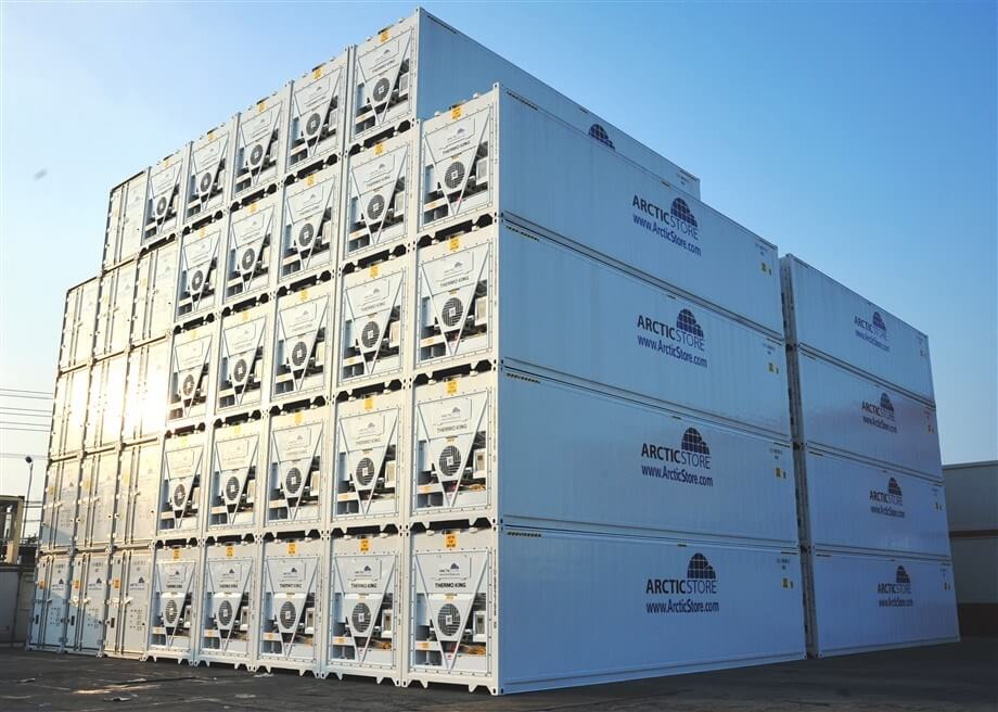 40' ArcticStore cold storage containers ready for hire